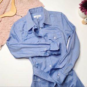 NWT Milly Oxford Shirting West Dress